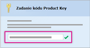Zadajte kód Product Key
