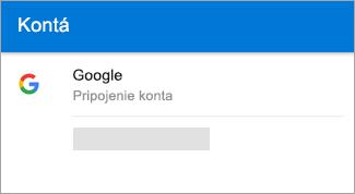 Outlook pre Android môže automaticky vyhľadať vaše konto Gmail.