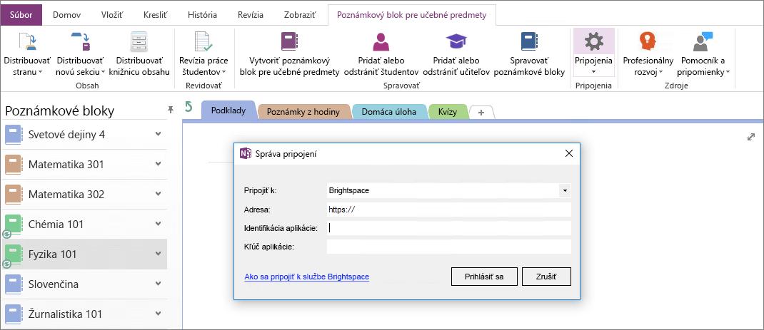 Snímka obrazovky pripojenia dialógové okno Onenotový poznámkový blok add-in s skupinovej politiky nie je nakonfigurovaný.