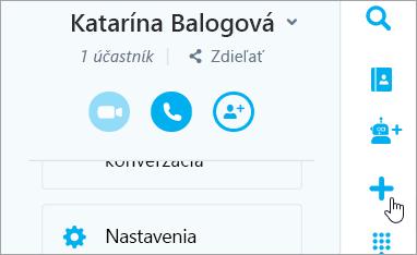 Snímka obrazovky s tlačidlo Nová konverzácia