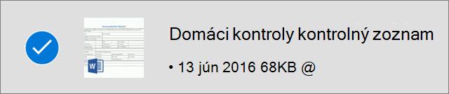 Súbor OneDrivu označený pre offline režim