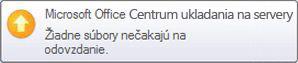 Kontextové upozornenie Centra ukladania na servery