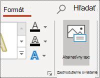 Tlačidlo AltText tvaru v PowerPointe pre Windows