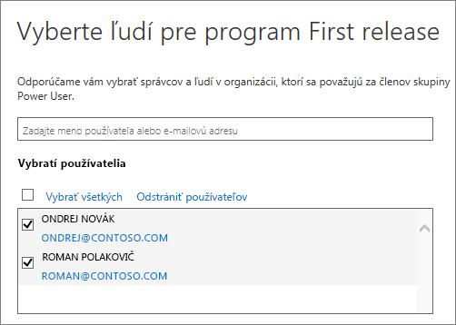 Pridanie používateľov do programov vydaní pre Office 365