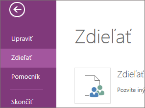 Share command in OneNote Web App