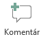 Tlačidlo Vložiť komentár v PowerPointe Online