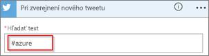 Snímka obrazovky: Zadajte požadované kľúčové slovo