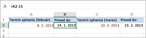 vypočítanie dátumu