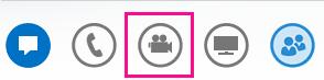 Snímka obrazovky s neaktívnou ikonou kamery