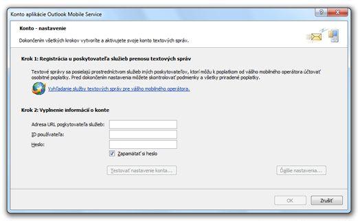 Vyhľadanie poskytovateľa služby SMS