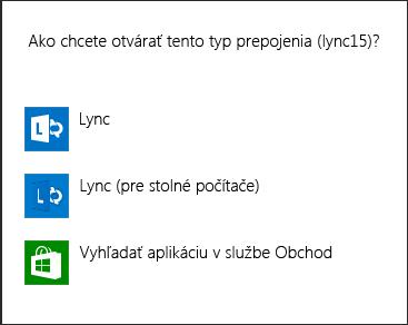 Snímka obrazovky soznámením Lyncu na výber programu