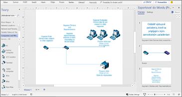 Dokument procesu vstrede atabla Export do Wordu na pravej strane