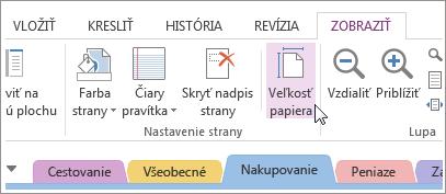 Veľkosť papiera môžete zmeniť tak, aby zodpovedala vytváranej šablóne