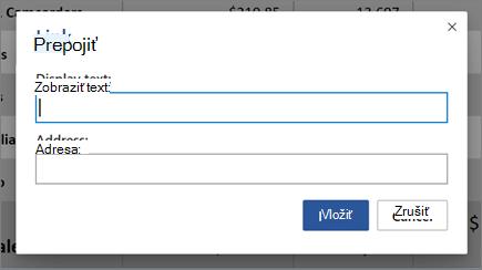 Vloženie hypertextového prepojenia