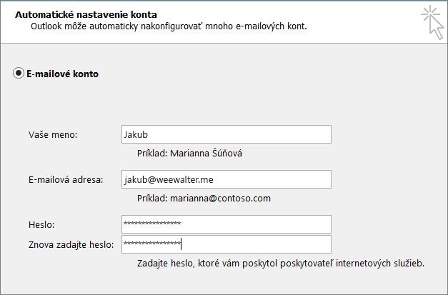 Zadajte heslo aplikácie do oboch polí Heslo.
