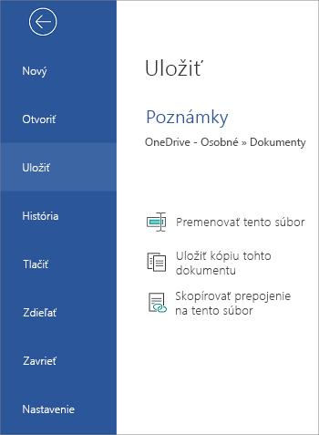 Uloženie súboru