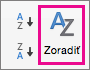 Na karte Údaje v Exceli vyberte položku Zoradiť