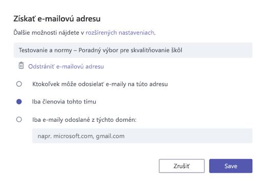 Prijímanie e-mailov