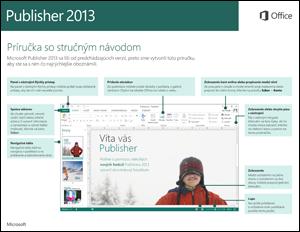Príručka so stručným návodom pre Publisher 2013