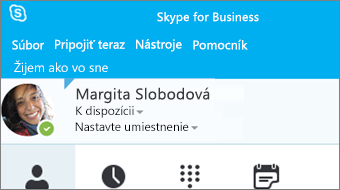 Začíname so Skypom for Business 2016
