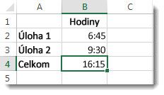 Sčítaný čas trvania dvoch úloh