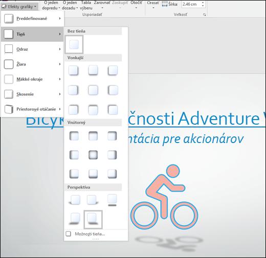 Pridanie efektov, ako napríklad tieňovania, do obrázkov SVG pomocou nástroja Grafické efekty