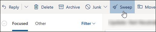 Snímka obrazovky stlačidlom Usporiadať