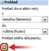 Sekcia Preklad na table Zdroje informácií