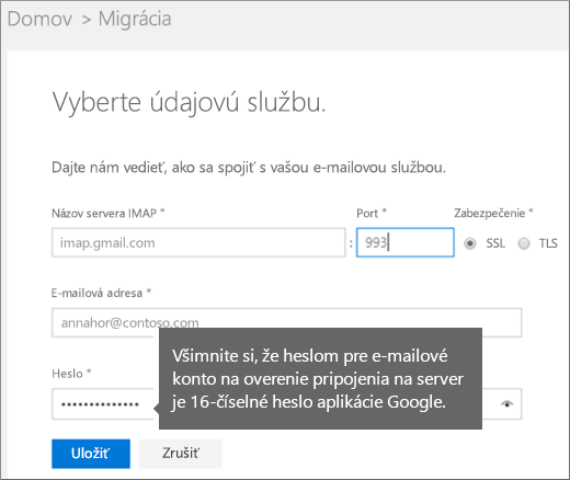 Vyplňte informácie oserveri IMAP aj informácie okonte apripojte sa