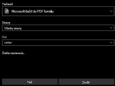 Tlač PDF