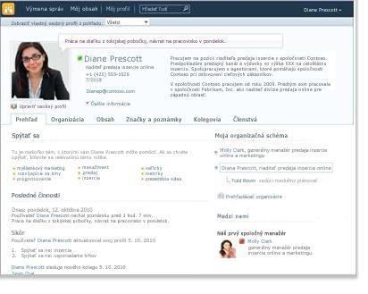 Profil Osobná webová lokalita