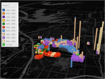 Power Map s motívom čiernej farby