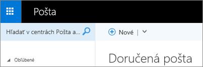 Ako vyzerá pás s nástrojmi v aplikácii Outlook Web App