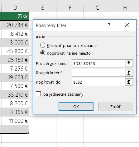 Rozšírený filter