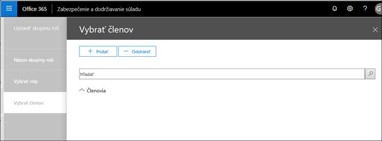 Služby zabezpečenia používateľa – výber používateľa