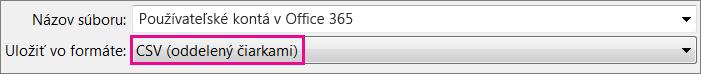 Obrázok uloženia súboru vo formáte CSV vExceli
