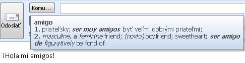 Obrazovkový komentár prekladu