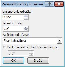 Word 2007 Adjust List Indents dialog box