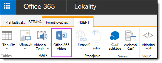Office 365 Video vloženie videa