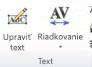 Skupina Text WordArt vprograme Publisher 2010