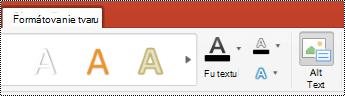 Tlačidlo alternatívny text pre tvary na páse s nástrojmi v programe Powerpoint for Mac