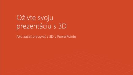 Snímka obrazovky s titulnou stranou 3D powerpointovej šablóny