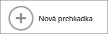 Tlačidlo Nová prehliadka v galérii mapy