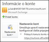 Pridanie nového e-mailového konta do Outlooku 2010