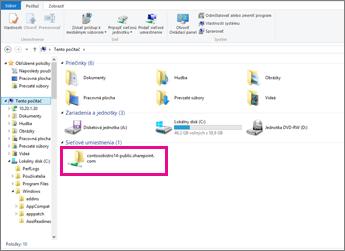 V Internet Exploreri vyhľadajte svoje sieťové umiestnenie