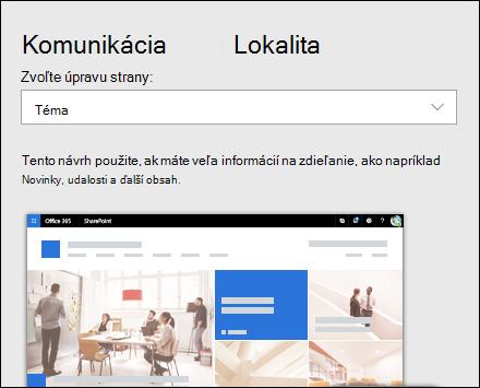Použitie návrhu na lokalitu SharePoint