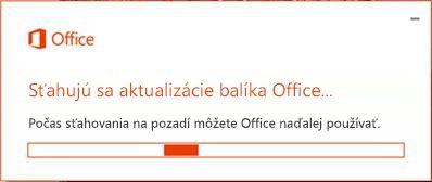 Sťahovanie aktualizácií balíka Office