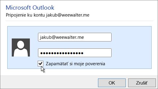 Prilepte heslo aplikácie do poľa Heslo.