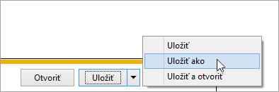 Snímka obrazovky stlačidlom Uložiť ako