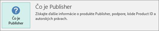 Informácie oprograme Project